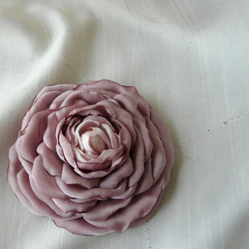 Dusty Rose Hair Piece, Dusty Wedding Clip, Elegant Pink  Flower Brooch, Pink Hair Clip, Bridal Hair Flower Clip