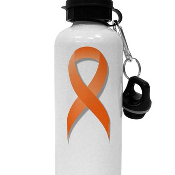 Leukemia Awareness Ribbon - Orange Aluminum 600ml Water Bottle