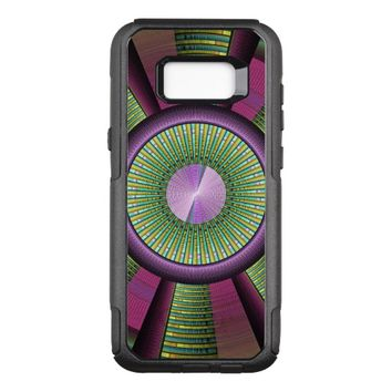 Round And Colorful Modern Decorative Fractal Art OtterBox Commuter Samsung Galaxy S8+ Case