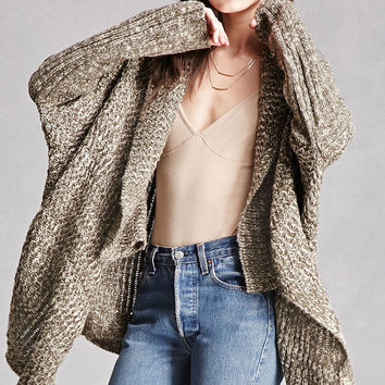 Marled Draped Cardigan
