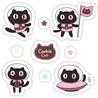 'cookie cat sticker set' Sticker by sunminny
