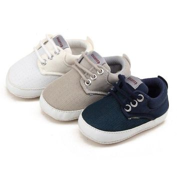 0-18 Month Baby Boys Infant Toddler Shoes Soft Sole Crib Shoes Sneaker Prewalker