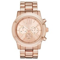 Women's Mossimo® Boyfriend Watch with Decorative Subdials - RoseGold
