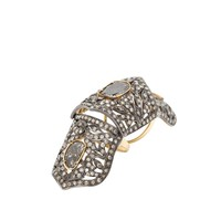 CC Skye Custom Order The Antwerp Raw Diamond Hinge Ring
