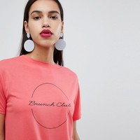 Whistles Exclusive Brunch Club Logo T-shirt at asos.com