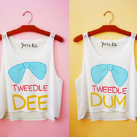 Tweedle Dee & Tweedle Dum Tank Tops
