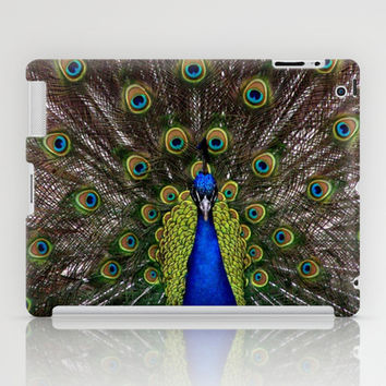 Vibrant pretty as a peacock bird feather art nouveau animal nature photograph iPad Case by iGallery