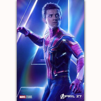 MQ3561 Avengers Infinity War Spider Man 2018 Movie Characters Film Art Poster Silk Canvas Home Decoration Wall Picture Printings