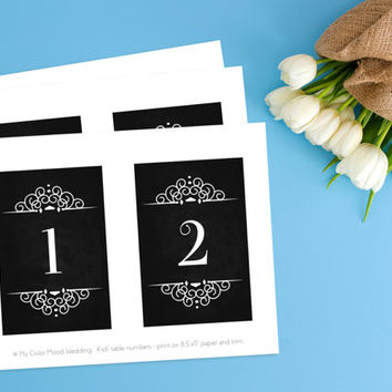 Table number cards, Chalkboard table numbers, Table numbers wedding, Restaurant table numbers, Vintage wedding table numbers, Number signs