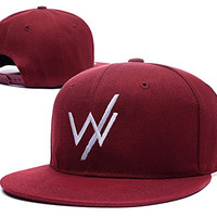 HAIHONG Sleeping With Sirens Band Logo Adjustable Snapback Embroidery Hats Caps - Red