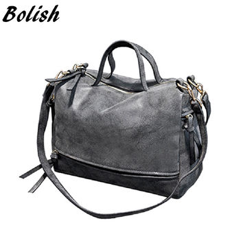 Bolish  New Arrive Women Shoulder Bag Nubuck Leather women handbag Vintage Messenger Bag Motorcycle Crossbody Bags Women Bag