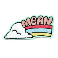 Mean Rainbow Chenille Patch