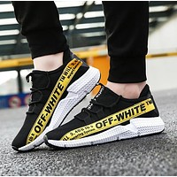 Off White Fashion New Letter Print Sneakers Leisure Running Shoes