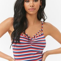 Striped Caged Cami