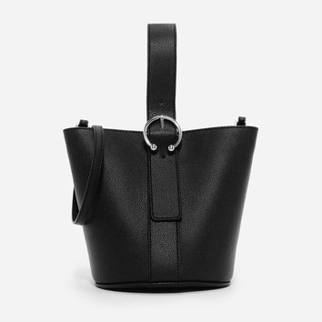 Black Oversized Buckle Bag|CHARLES & KEITH