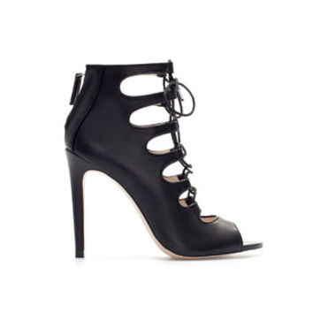 HIGH HEEL LEATHER ANKLE LACE - UP BOOT - Shoes - Woman | ZARA United States