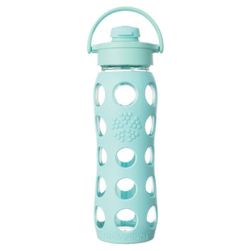 LIFEFACTORY 22oz GLASS BOTTLE WITH FLIP CAP