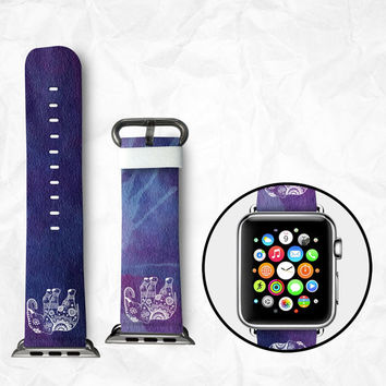 Handmade Apple Watch Strap 38/42mm - Elephant with blue (BBSW036)