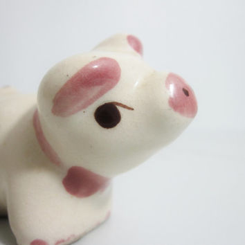 Vintage Occupied Japan Figurine: Pig with Bow Tie