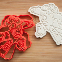 Fredzilla. Baymax. Big Hero 6.  Cookie cutters. Gingerbread and cookies.