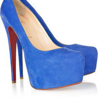 Christian Louboutin daffodil 160 suede platform pumps [2011072210] - $185.00 : Christian Louboutin Shoes On Sale, Enjoy 75% Off The Shoes Outlet!