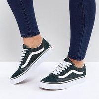 Vans Old Skool Unisex Trainers In Green at asos.com