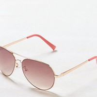 AEO Women's Rose Gold Aviator Sunglasses (Rose Gold)