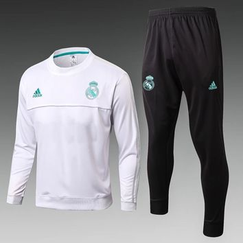 KUYOU Real Madrid 2017/18 White Men Tracksuit Slim Fit 2 (No ads)