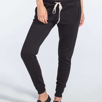 Full Tilt Fleece Womens Jogger Pants Black  In Sizes