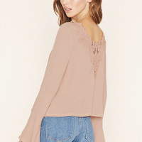 Crocheted Bell-Sleeve Top | Forever 21 - 2000153055