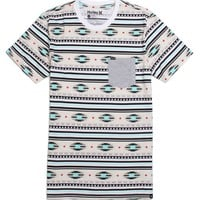 Hurley Costner Stripe T-Shirt - Mens Tee