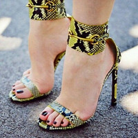 Tina Wide Ankle Cuff Sandals