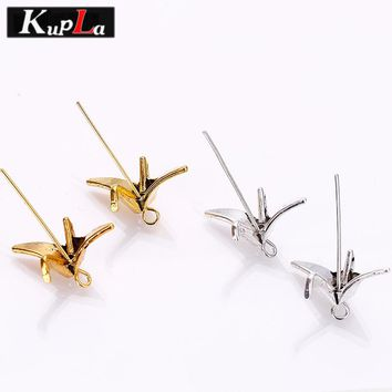 Kupla Vintage Metal Paper Cranes Beads & Diy Jewelry Making Fashion Paper Cranes Spacer Beads Jewelry Handmade 80pcs 8*16*21mm