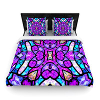 "Art Love Passion ""Kaleidoscope Dream"" Pink Purple Woven Duvet Cover"