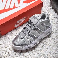 Nike Air More Uptempo Liquid Silver Basketball Shoes - Best Online Sale