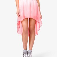Ombré High-Low Skirt