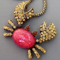 Sparkly Crab Necklace