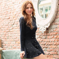 YESSTYLE: Tokyo Fashion- Bow-Back Beaded Dress (Black - One Size) - Free International Shipping on orders over $150