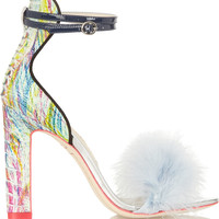 Sophia Webster - Nicole feather-trimmed ostrich sandals