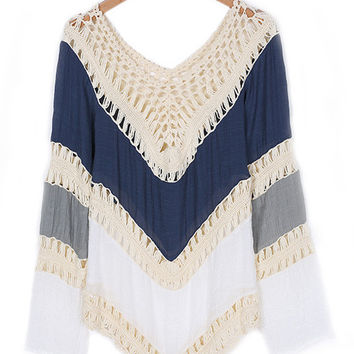Long Sleeve Crochet Bikini Cover-up