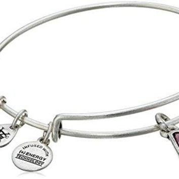 Alex and Ani October Birth Month Charm with Swarovski Crystal Bangle Bracelet