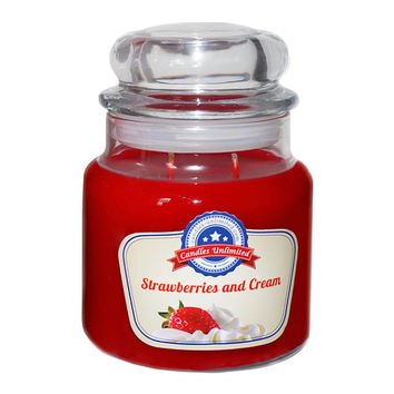 Strawberries & Cream - Soy Blend Container Scented Candles