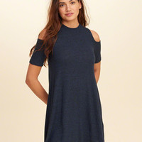 Girls Cold Shoulder Swing Dress | Girls New Arrivals | HollisterCo.com