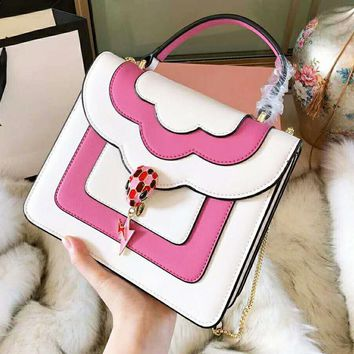 "Hot Sale""Bvlgari"" Fashion Women Shopping Leather Handbag Tote Shoulder Bag Crossbody Satchel"