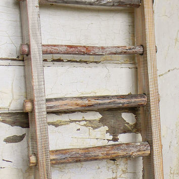 Primitive Decorative Ladder, Rustic Ladder, Garden Ladder, Wooden Decorative  Ladder, Small Leaning