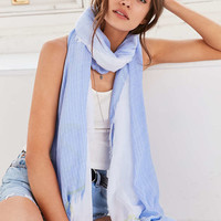 BDG Sheer Shirting Oblong Scarf - Urban Outfitters
