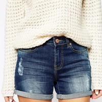 Noisy May Distressed Denim Shorts