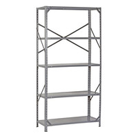 "Edsal 7216H Steel Commercial Shelving Unit, 36"" Width x 72"" Height x 16"" Depth"