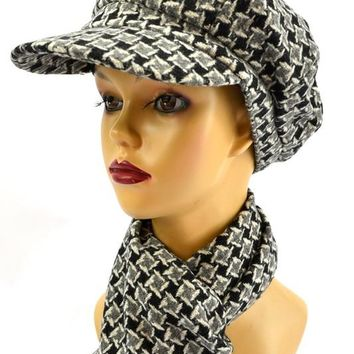 Be Tweed You and Me Hat and Scarf Set