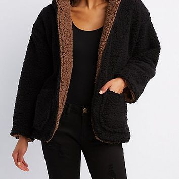 Reversible Faux Fur Coat | Charlotte Russe